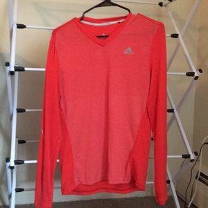 Adidas long sleeve v-neck